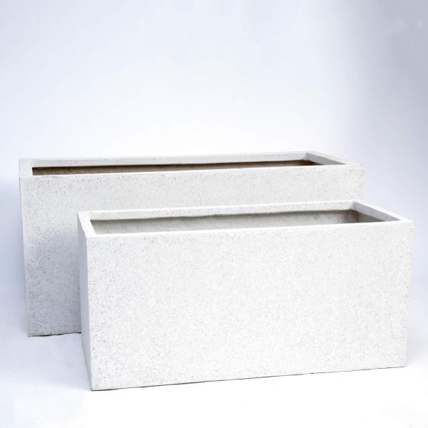 White Oblong Planters