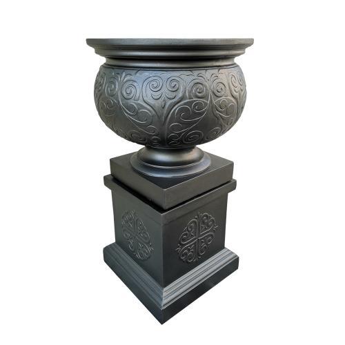 Stonelite-Ornate-Urn-Charcoal-81146